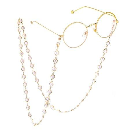 Cadena de anteojos,Retenedor de gafas Gafas multicolores con cuentas Cadenas de cord/ón Gafas de sol Cadena de gafas