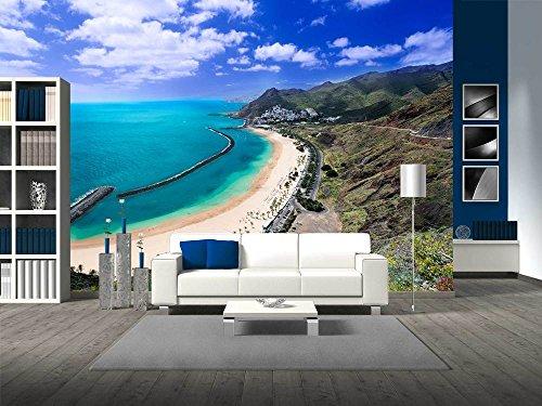 Famous Beach near Santa Cruz De Tenerife in the North of Tenerife Canary Islands Spain