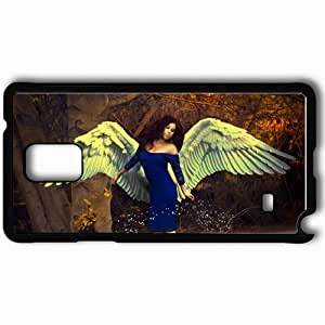 Personalized Samsung Note 4 Cell phone Case/Cover Skin Afternoon Dip Wings Art Black