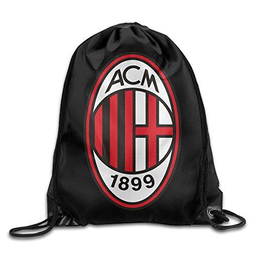Bieshabi AC Milan Drawstring Backpacks Sack -
