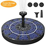Biling Solar Bird Bath Fountain Pump, 2.5W Solar Fountain Pump with...