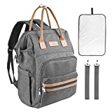 8 oz Milk Bottle Diaper Bag Backpack for Mom&Dad, Icoolare Waterproof Multifunction Travel Outdoor College School Laptop Backpack Large Capacity Maternity Baby Diaper Bag Backpack with Changing Pad