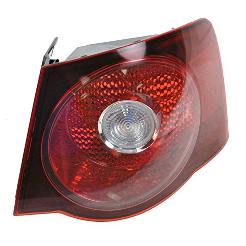 Light Outer 08 Tail (Outer Taillight Taillamp Passenger Side Right RH for 08-10 VW Jetta Sedan)