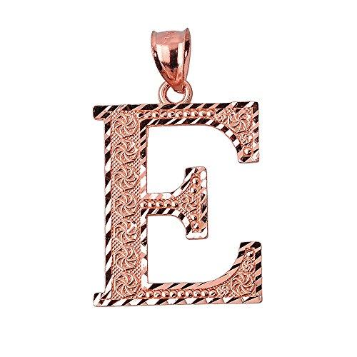 10 ct 471/1000 Initiale E Or Rose- Pendentif