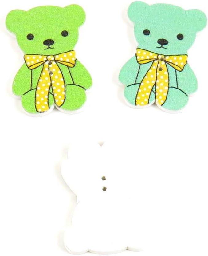 Botones de costura coser sobre ax3d1 pajarita oso para ropa en ...