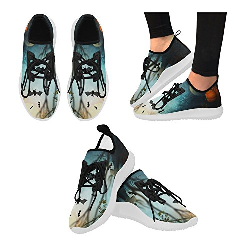 interestprint unicorn dolphin ultra light running shoes for women halloween bat sq4d1