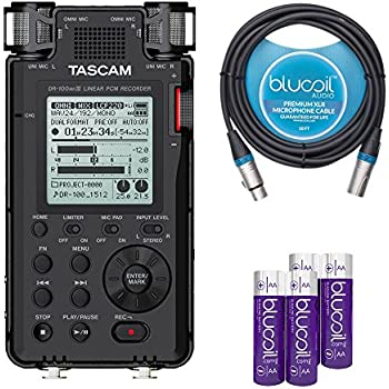 tascam dr 100mkiii portable recorder with linear pcm compatibility bundle with. Black Bedroom Furniture Sets. Home Design Ideas