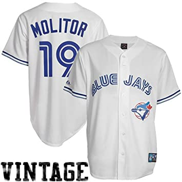 premium selection 06281 5c35e Paul Molitor Toronto Blue Jays Majestic White Cooperstown ...