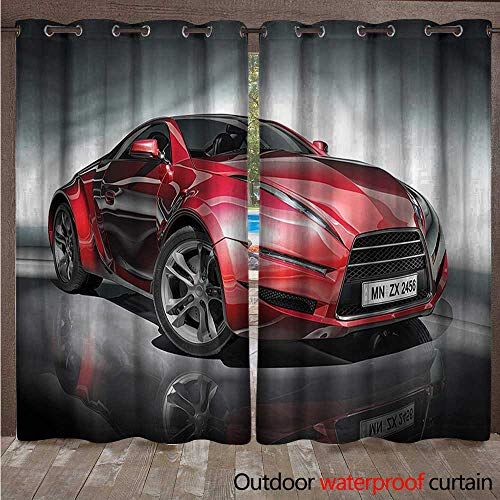 cobeDecor Cars Outdoor Ultraviolet Protective Curtains Red Fast Sports Racing Men W84 x L84(214cm x 214cm)