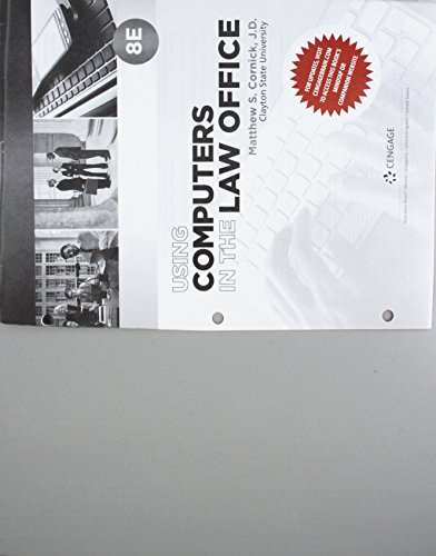 Bundle: Using Computers in the Law Office, Loose-leaf, 8th + MindTap 1 Term (6 Months) Printed Access Card (Using Office In The Law Computers)