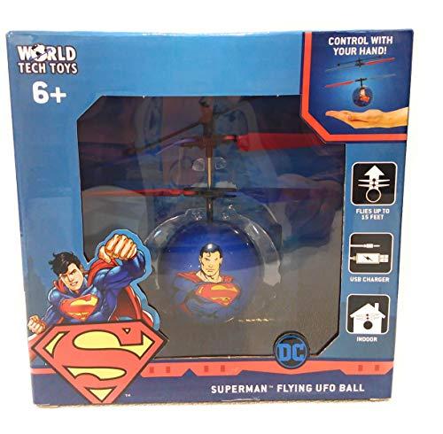 World Tech Toys Marvel Flying Heli UFO Ball Powerful Levitating Sphere Flies Up to 15 feet DC Comics (Superman)