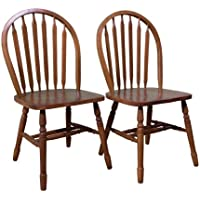 TMS Arrowback Chair (Set of 2), Oak