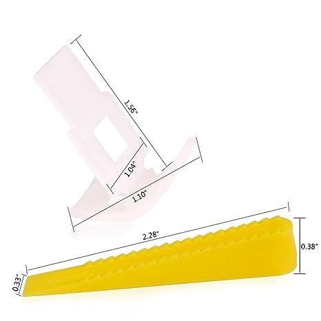Sistema de nivelación de 500 azulejos 400 clips + 100 cuñas – Niveladores y espaciadores de azulejos para construcción: Amazon.es: Bricolaje y herramientas