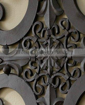 Large 38'' Indoor Outdoor Ornate Wall Medallion Art Decor Plaque Patio Garden Metal
