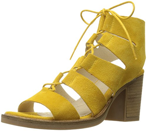 Bos. & teGb966bt7 Women Brooke Fisherman Sandal Yellow Maize Suede Leather
