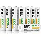 EBL AA Ni-MH Rechargeable Batteries 16-Count (2300mAh, Storage Battery Box Packed)