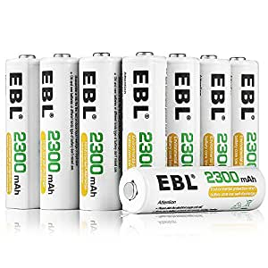 Amazon.com: EBL AA Rechargeable Batteries 2300mAh Ni-MH