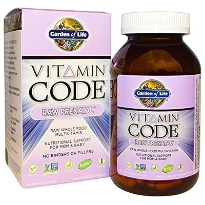 Garden of Life, Vitamin Code, Raw Prenatal, 180 Vegetarian Capsules