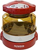 NuWave Oven Red Pro Plus with Stainless Steel Extender Ring Kit