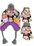 Tsum Tsum Girls Group Shot Heidi Hat and Glove Cold Weather Set - Grey