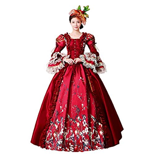 4978193d1a2ce Zukzi Womenu0027s Gothic Victorian Lolita Masquerade Dresses Ball Gowns US  6 #209 Red Sc 1 St Amazon.com