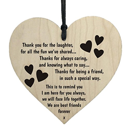 Oldeagle Creative Wooden Hanging Gift Plaque Pendant Family Friendship Love Sign Wine Tags Decor ()