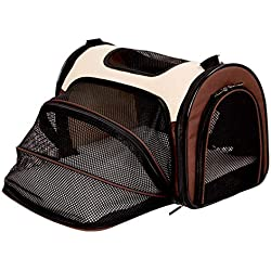 IRVING Pet Carrier for Small Dogs, Cats, Puppies, Kittens, Pets, Collapsible, Travel Friendly, Cozy and Soft Dog Bed, Carry Your Pet with You Safely and Comfortably (Color : E, Size : M)