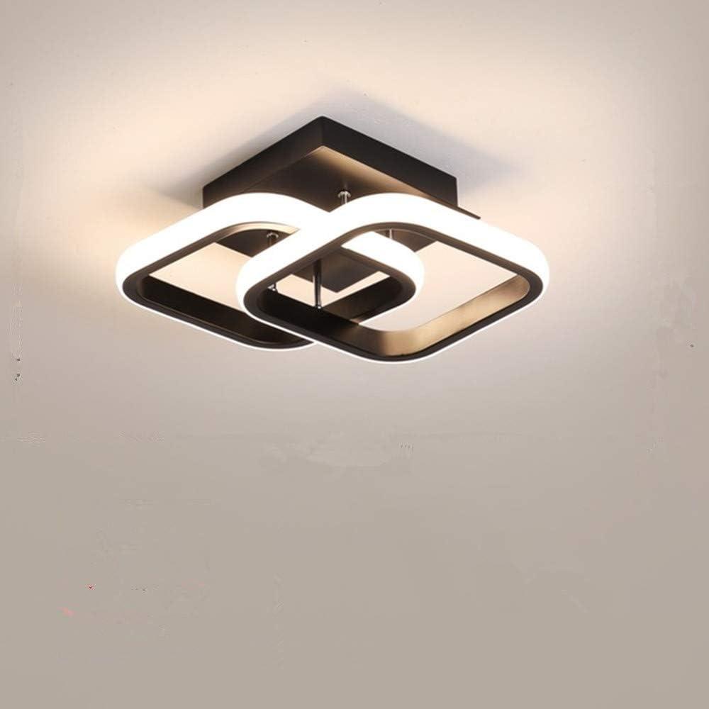 Osairous Plafonnier LED Moderne 22 W en Acrylique à 2 LED carrées, pour Salle à Manger, Cuisine, Studio, lumière Blanche froide/6000K