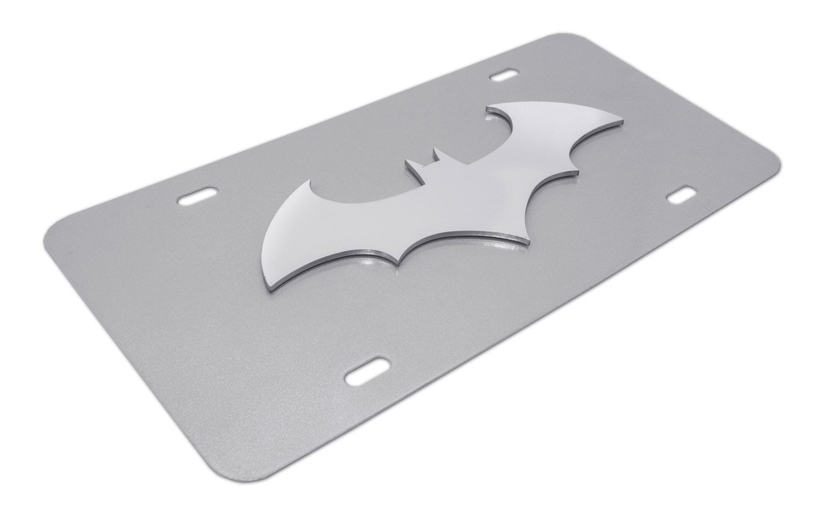 Elektroplate Batman Black Bat Stainless Steel 3D License Plate