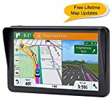 7-inch GPS for Car, 8GB Free Lifetime Map Update Spoken Turn-to-Turn Navigation System for Cars, Portable Sat-Nav, Vehicle GPS