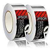 2 Rolls Multipurpose Aluminum Foil Tape, Adhesive Sealing Silver Tape, Best for HVAC, Ducts, Metal Repair (2inch x 54.7yard) by JPSOR