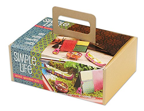 Studio M Gypsy Miniatures Gift Boxed Mini Garden Kit, 5-Piece, Simple Life