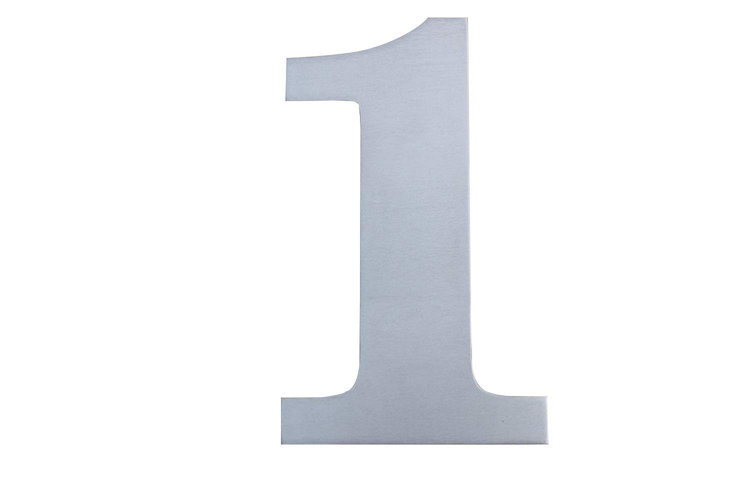 Fly Mida 8inch- House Number-304 Brushed Stainless Steel,Floating Appearance and Easy to Install (Number-1)