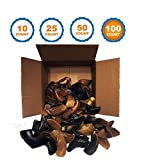 123 Treats Smoked Cow Hooves | 100 Pack | 100% Natural Dog Dental Treats | Beef Hoof From