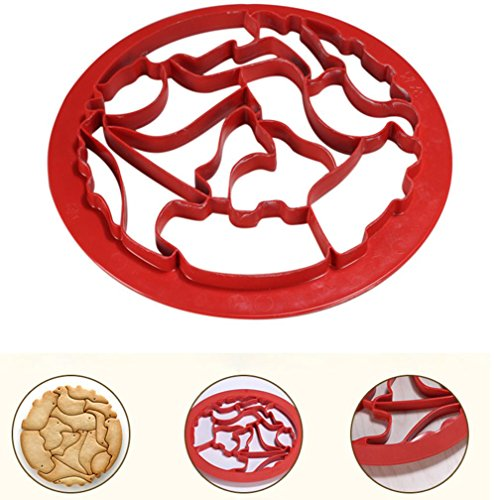 Price comparison product image Hot Sale! AMA(TM) Animal Biscuit Cake Cookie Maker Mold Mould Edge Cutter Cookie Maker Mold Kitchen Cooking Tool (Red)