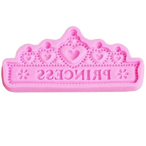 Molde de silicona para tartas con corona de princesa para chocolate, gelatina, molde para
