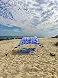 Neso Tents Beach Tent with Sand Anchor, Portable Canopy SunShade - 2.1m x 2.1m - Patented Reinforced Corners (Shibori)
