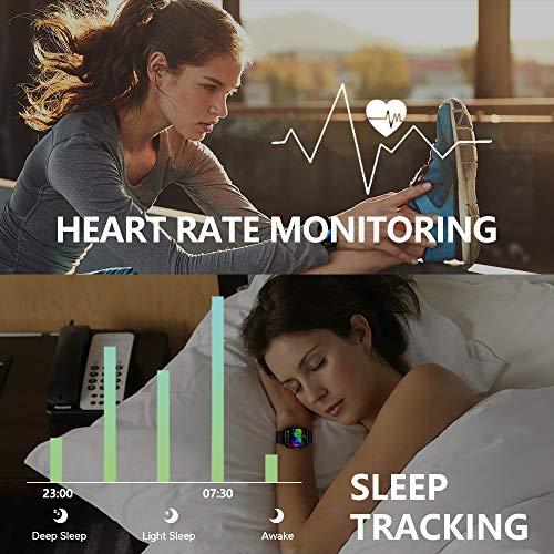 Judneer Smartwatch, 1.4 Zoll Voll Touch-Farbdisplay Armbanduhr mit Pulsuhr Fitness Tracker, IP68 Wasserdicht Smart Watch Android IOS mit Schlafmonitor, Sportuhr Schrittzähler für Damen Herren Watch