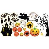 Halloween Aufkleber 24 Stickers Maße Kit - 60 cm x 30 cm