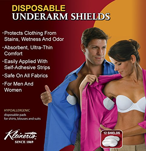 (Kleinert's Disposable Peel & Stick Absorbent Underarm Pads. 12 Pads (6 Pair) Style # MW-4900. Measures 5