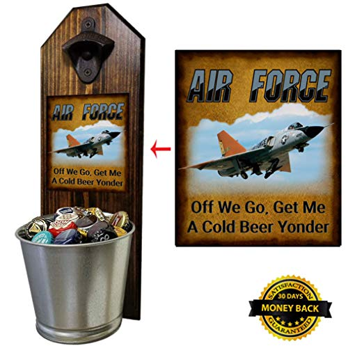 Air Force Bottle Opener and Cap Catcher