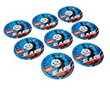 """American Greetings Thomas & Friends 9"""" Round Plate (8 Count)"""