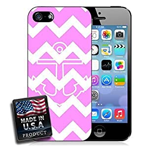 Colorful Pink Chevron Anchor For SamSung Galaxy S5 Phone Case Cover Hard Case