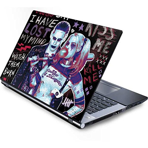 Skinit DC Comics Harley Quinn Generic 17in Laptop (15.2in X 9.9in) Skin - Harley Quinn Madly in Love Design - Ultra Thin, Lightweight Vinyl Decal -