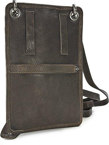 15 Inch by Jerome Westford, Borsa a tracolla, Mini Messenger, sotto la giacca, pelle, marrone, 13 x 19,5 cm