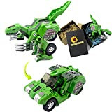 Dinosaur Transform Toy Change into Car Manual Transform A Toy of Two Games with Simulation of Sound Effects Glowing Eyes by Latburg