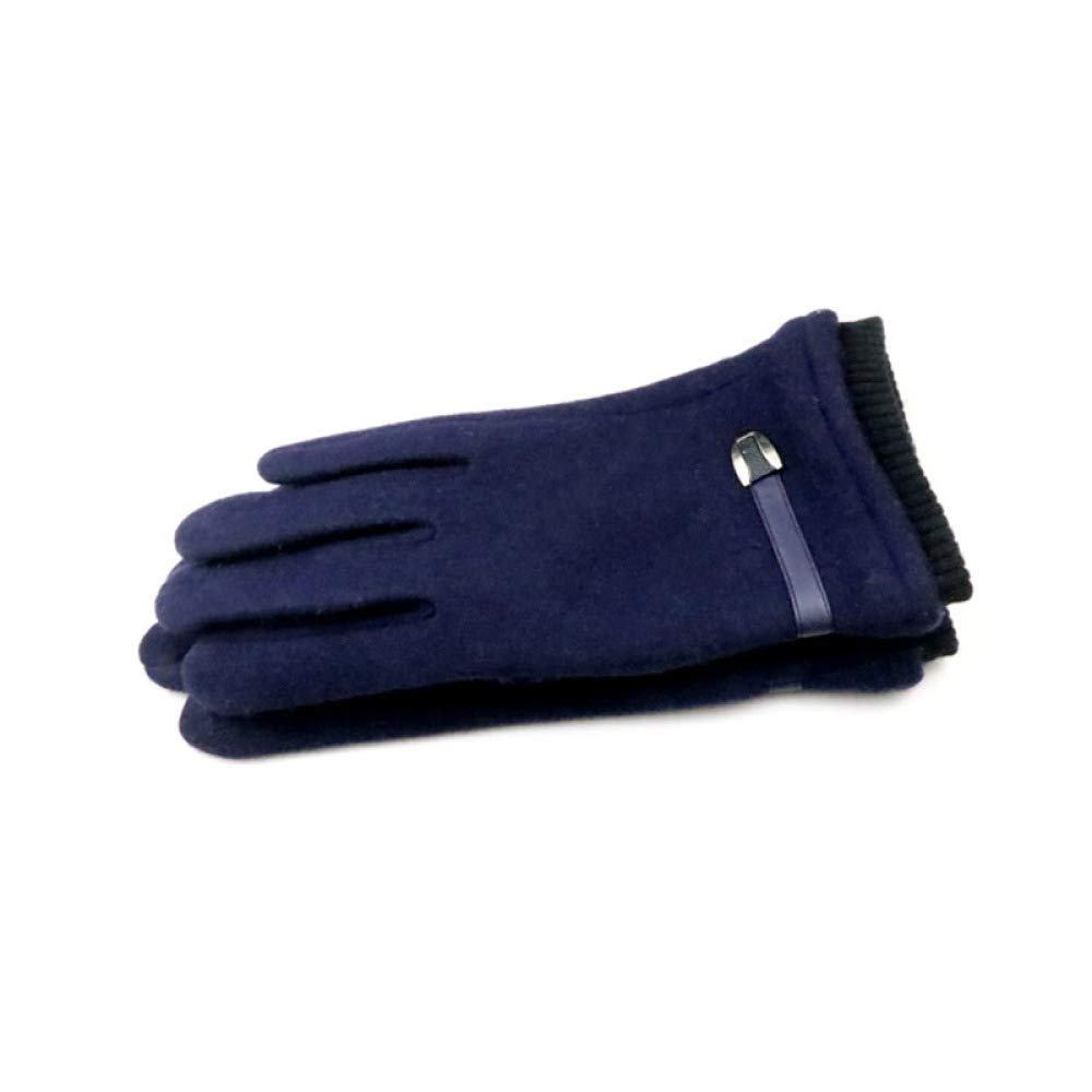 GJJ Autumn and Winter Students Trend Personality Running Handsome Handsome Mens Cashmere Warm Thick Gloves,Navy Blue,A