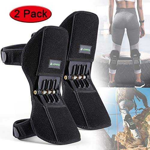 JOMECA Knee Boost 2 Pack, Powerlifts Spring Joint Support Knee Brace, Powerful Rebounds Spring Force for Knee osteoarthritis, Climbing, Squat, Mountaineering, Exercising, One Size Fits Most
