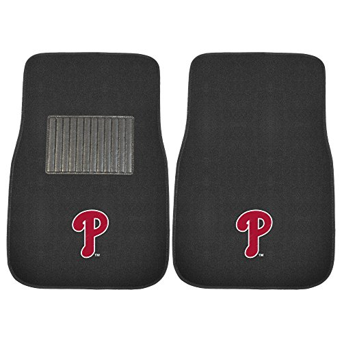 FANMATS 10745 MLB Philadelphia Phillies 2-Piece Embroidered Car Mat