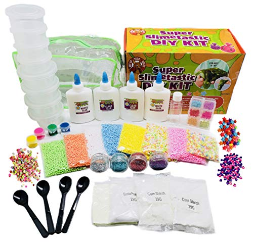 Large DIY Slime Kit for Kids - Tons of Slime Accessories for Unicorn Slime - Clear Slime - Fluffy Slime - Crunchy Slime - Slime Making Kit for Girls and Boys - Cloud Slime - All Types of Slime